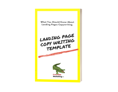 Landing Page Writing Template cover