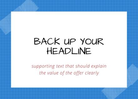 back up your headline