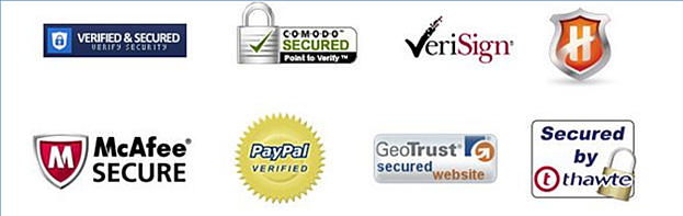 example of trust logos for landing page