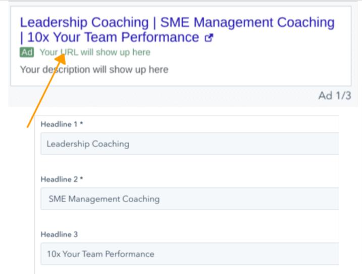 google ads headline for business coaching