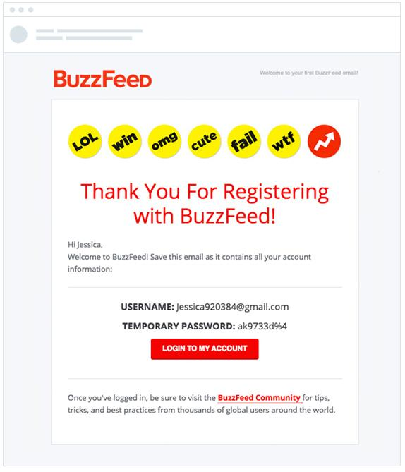 email marketing transactional example