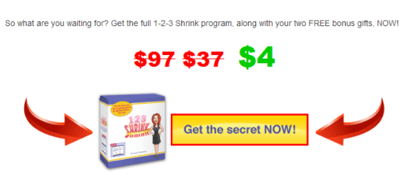 Secret now call to action example