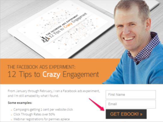 Get ebook call to action example