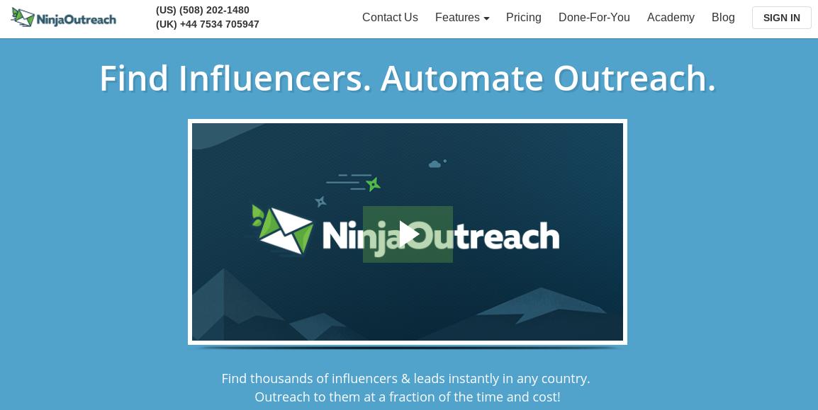 Ninja Outreach Tools