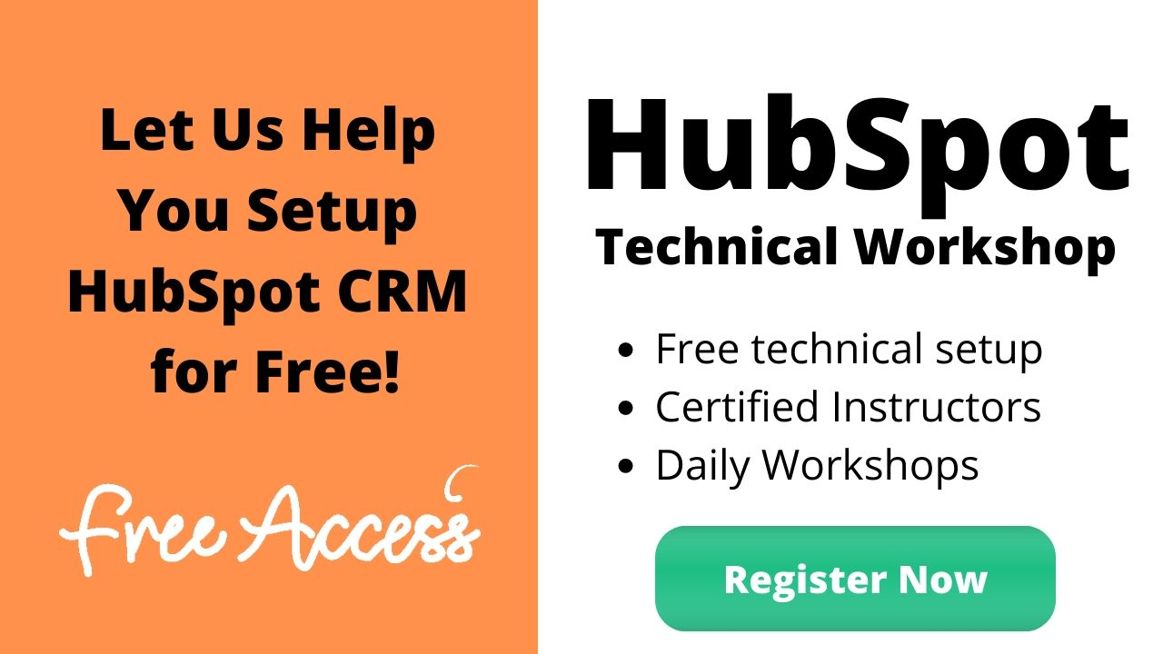 Banner for HubSpot CRM Setup Workshop